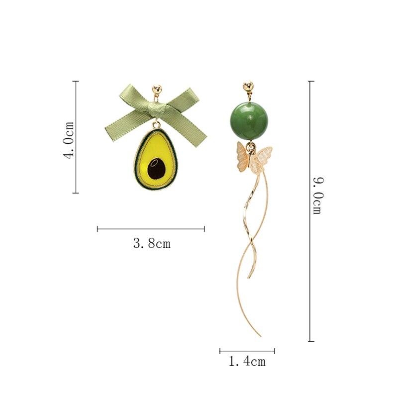 Boucles doreilles avocat Miniblings fiche nourriture fruits en plastique Kawaii d/ét/é