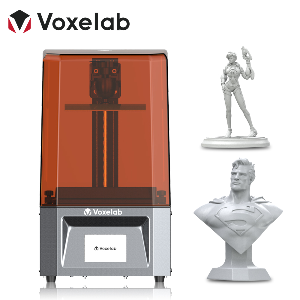 3D-принтер Voxelab Проксима, 6 дюймов, высокоточный УФ-фотоотверждающий полимерный принтер 2k LCD, набор «сделай сам» с быстрой скоростью печати, Пр...