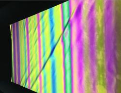 Tela elástica brillante reflectante de Color mágico fluorescente de moda de iridiscencia