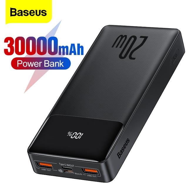 Внешний аккумулятор Baseus на 30000 мАч с поддержкой быстрой зарядки 1