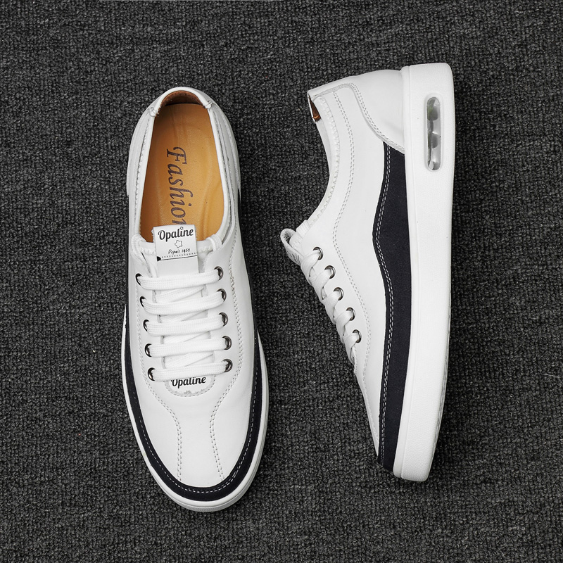 Korean version Men Genuine Leather shoes Casual shoes Fashion Simple styling qualiy Brand Formal work dress