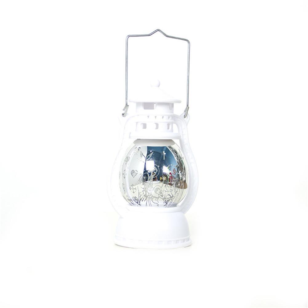 Светодиодный фонарь, Рождественский светильник, подсвечивающий свет для дома, винтажный Ретро праздничный фестиваль, Рождественское украшение, крытая наружная лампа - Испускаемый цвет: White