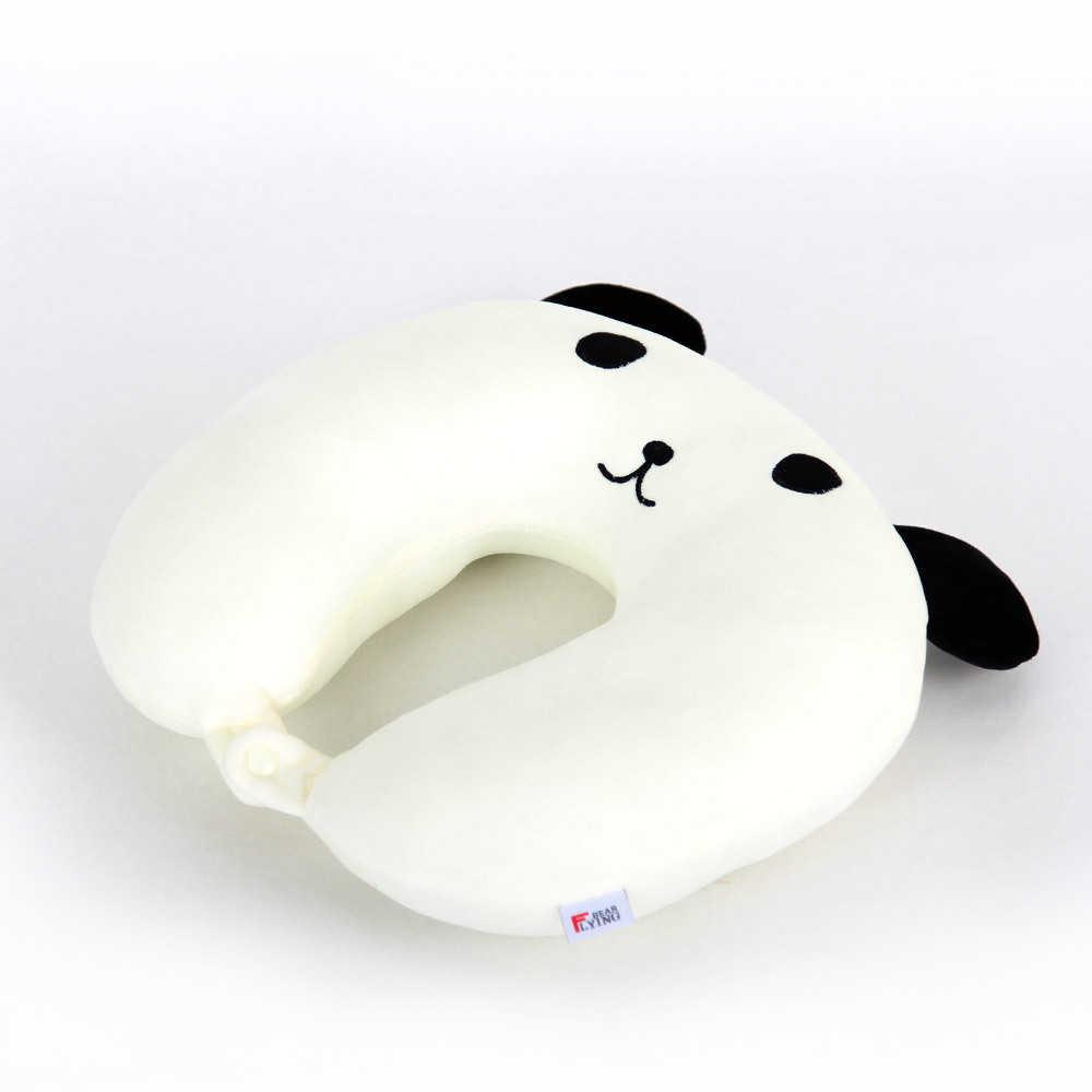 Soporte de gato de dibujos animados en forma de U almohada de espuma de memoria cuello en forma de U reposacabezas con forma de coche viaje de vuelo cojín cuidado suave P58