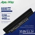 Apexway 11.1v batterie d'ordinateur portable pour acer AL10A31 AL10B31 AL10G31 Aspire One D255 D260 D270 522 722 AOD255 AOD257 AOD260 noir