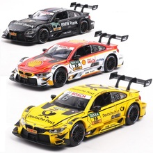 1:32 Alloy Car Model Toys For BMW M4 M8 With Pull Back function Electronic toy with Simulation lights and Music Kid Gift