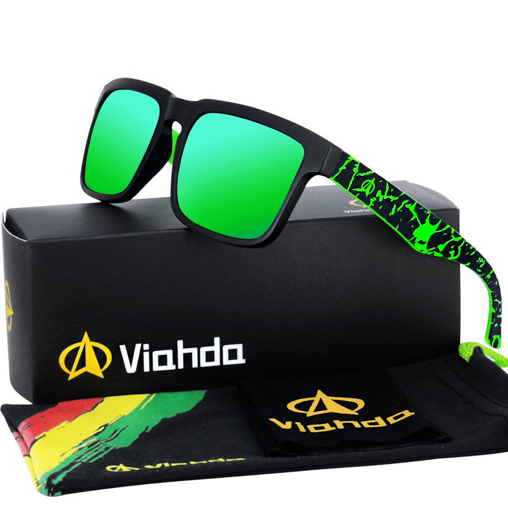 VIAHDA 2020 New And Coole Polarized Ssunglasses Classic Men Shades Brand Designer Sun Glasses Eyewear Male UV400