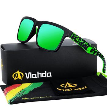 VIAHDA 2020 nowy i coole spolaryzowane Ssunglasses klasyczne mężczyźni odcienie marka projektant okulary męskie UV400 tanie i dobre opinie Gogle Dla dorosłych Z tworzywa sztucznego Gradient 4 0cm Poliwęglan F854s 5 4cm