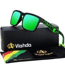 VIAHDA 2021 new and coole Polarized Ssunglasses Classic Men Shades Brand Designer Sun glasses Eyewear Male UV400