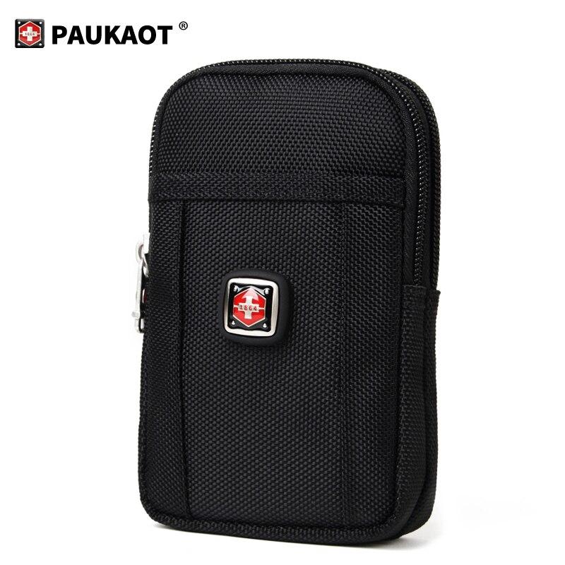 Classic Belt Waist Packs Black Fanny Pack Phone Pouch Outdoor Money Bags Purse Wallet Business Men's Zipper Pocket