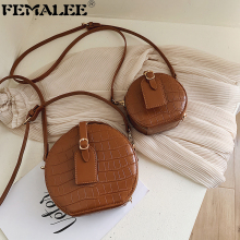 Brand Designer Mini Round Bags For Women Crocodile Pattern L