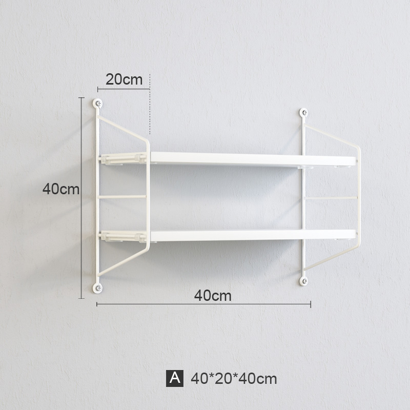 Shelving Without Perforating Living Room TV Wall Decoration Partition Wall Hanging Bedroom Wall Hanging Wall Bookshelf