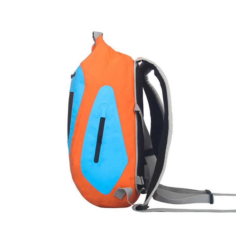 PVC 25L Tas Tahan Air Tas Kering Bersepeda Penyimpanan Wol Karung Ransel Outdoor Perjalanan Arung Jeram Kayak Drybags Perahu Kering pack