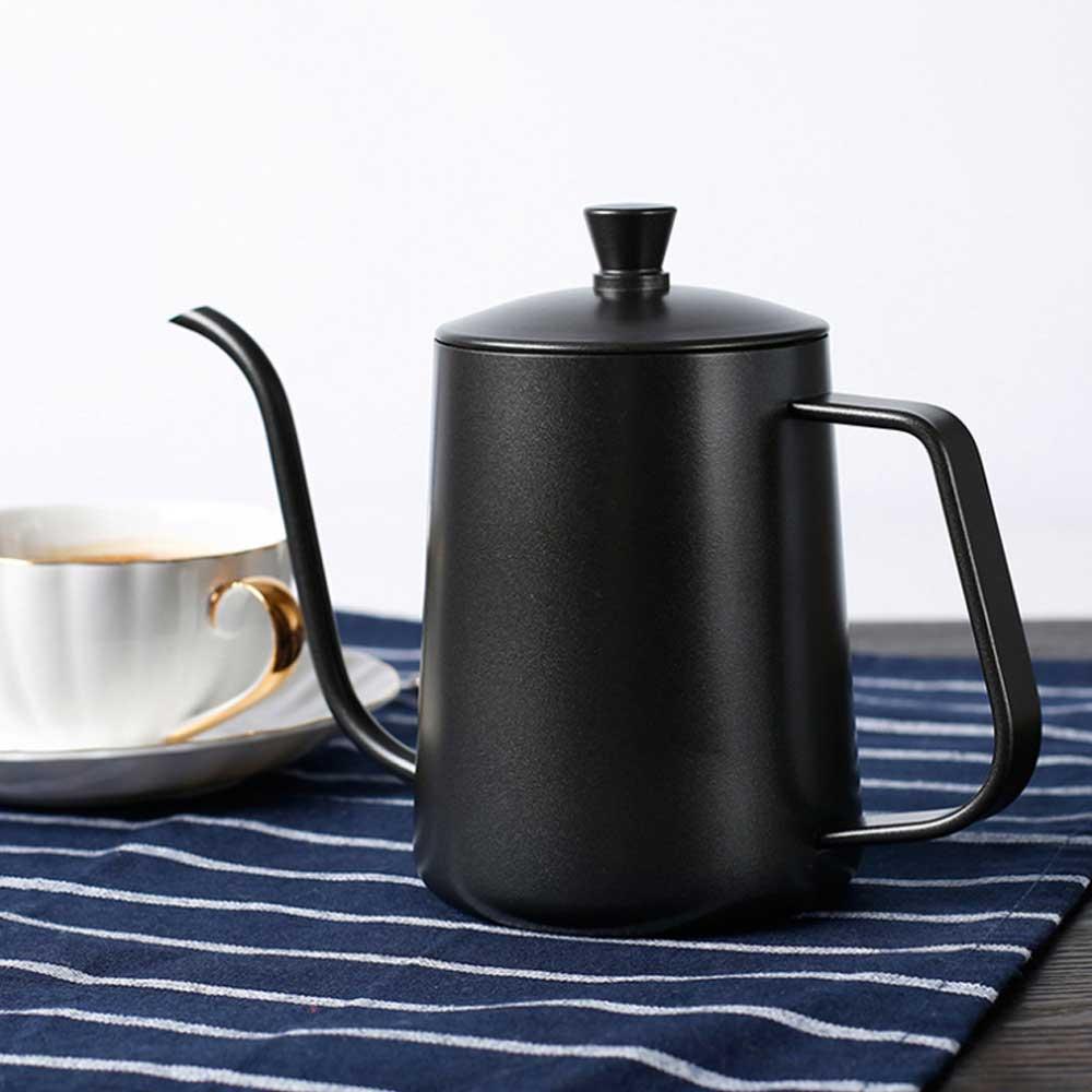 Coffee Make Pots Coffeeware Barista Moka Jug Espresso Professional Kettle Goose Spout Food Grade Stainless Steel Thin Neck Mouth