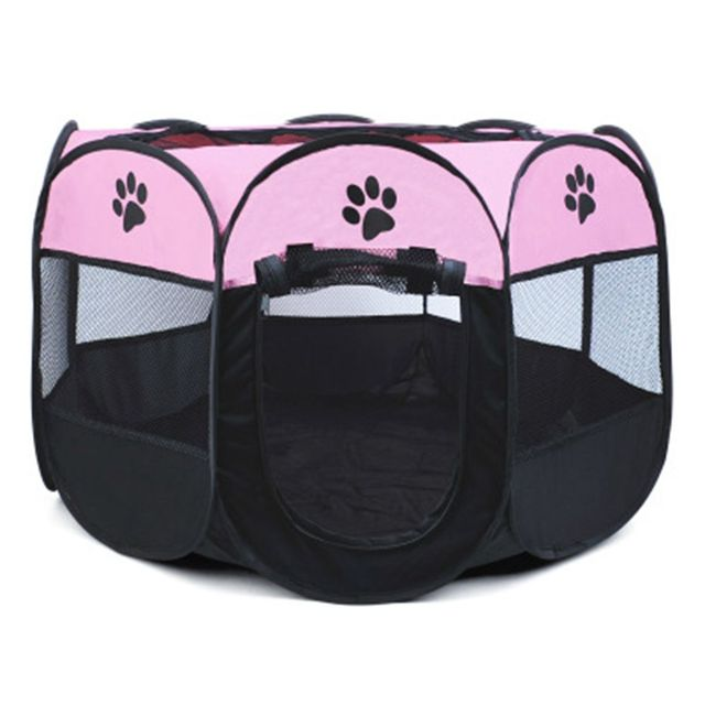 Portable Folding Pet Tent Dog House Octagonal Cage For Cat Tent Playpen Easy Operation Fence Outdoor Big Dogs House Puppy Kennel 3