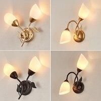 Personalidade moderna iluminação criativa lâmpada de parede vidro estudo varanda quarto cabeceira corredor lâmpadas iluminação interior preto dourado