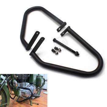 Black Metal Steel Motorcycle Engine Guard Kit For Royal Enfield Classic 500 Pegasus Stealth Models