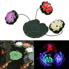 Лотос светильник, солнечная энергия, плавающий светодиодный светильник Лотос, ландшафтный светильник, плавающий светодиодный светильник, украшение для сада и двора