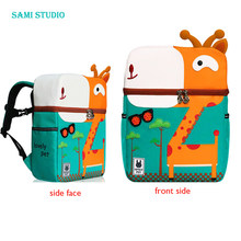Kid Unicorn Backpack Cute 3D Cartoon Dinosaur Anti-lost Printed Kindergarten orthopedic School Bag for Girl Boy Children Mochila(China)