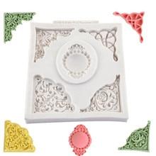 Silicone Mold Baking-Tray Sugarcraft-Decorating Lace Fondant Embossed Chocolate DIY European