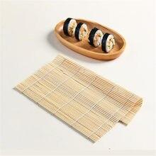 Kit de fabrication de Sushi en bambou, 1 pièce, moule en rouleau de riz, tapis à rouler, outils pour palettes de riz, accessoire de cuisine