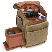 New Arrival Batik Canvas Outdoor Photography Camera Backpack Padded Hiking Bag for Nikon/Canon/Sony SLR Camera Accessories