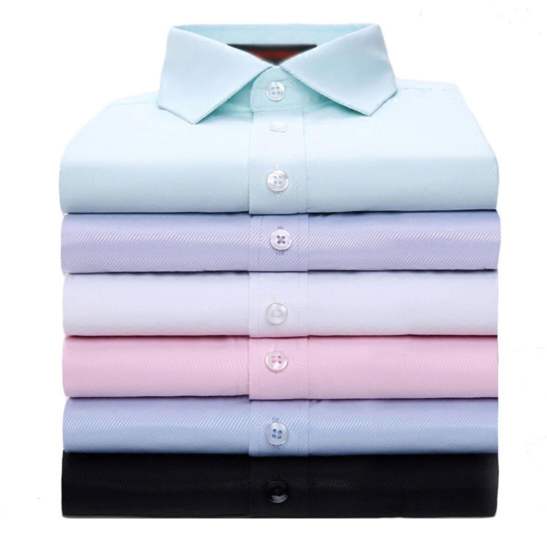 2019 NEW Men's Shirt Spring  Business Men's Solid Color Short Maa1 Sleeve White Shirt KW9209-06