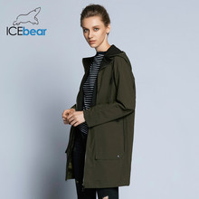 ICEbear 2019 new woman trench coat women fashion with full sleeves design women coats autumn brand casual coat GWF18006D(China)