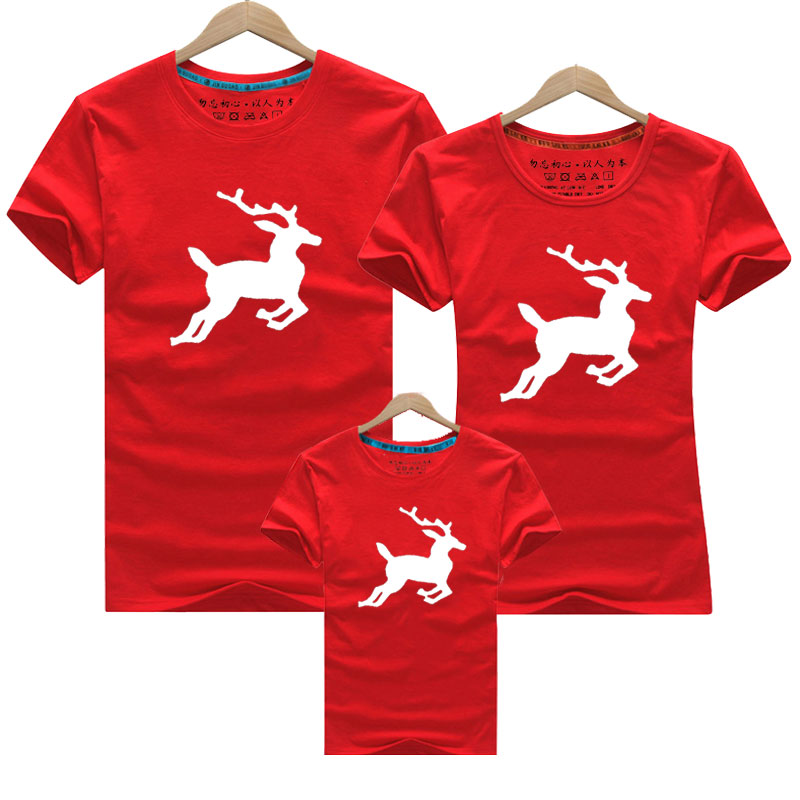 2019 Christmas Family Look Deer Mommy And Me Clothes Christmas Matching Family Clothing Sets Mother Daughter Father Baby T-shirt