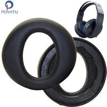 Poyatu CECHYA 0090 Earpads עבור Sony פלייסטיישן פלטינה אלחוטי אוזניות אוזניות PS4 החלפת Earpad אוזן כרית כרית כוסות