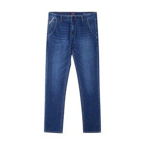 Image 5 - Metersbonwe ישר ג ינס גברים מזדמן ג ינס החורף חדש מזדמן נוער פשוט עיצוב מגמת Slim ג ינס Mens מכנסיים זכר מכנסיים