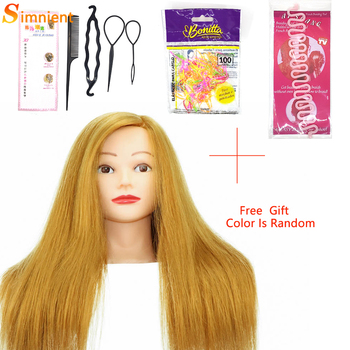 Mannequin Head with Real Hair 85% Straight Professional Training Head with Stand Cosmetology Doll Head for Styling Curl Practice 85% real human hair mannequin head for hair training styling practice professional hairdressing cosmetology doll head for braid