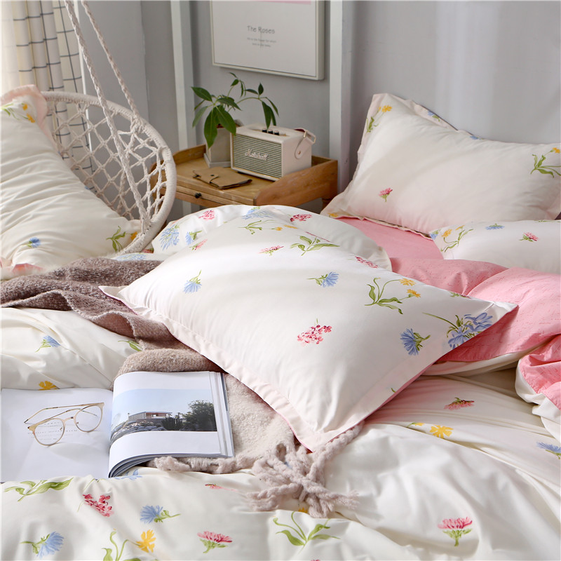 Liv Esthete Elegant Art Flower Bedding Set Soft Duvet Cover Pillowcase Bed Linen Bedspread Flat Sheet Or Fitted Sheet Bedspread in Bedding Sets from Home Garden