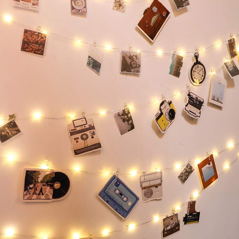 New 1M 2M 3M 5M Photo Clip LED String Lights Fairy Garland Battery Operated For