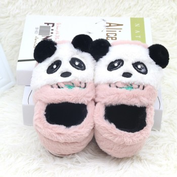 Panda Slippers Cute Animal Print Girl Soft And Warm Plush Children's Winter Boots Socks 2-7 years old Children - discount item  58% OFF Children's Shoes