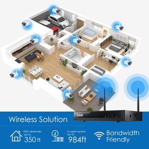 Image 5 - ZOSI 1080P אלחוטי טלוויזיה במעגל סגור מערכת 8CH חזק H.265 + NVR 8pcs 2MP IP Bullet CCTV מצלמה WiFi אבטחה מערכת מעקב ערכות