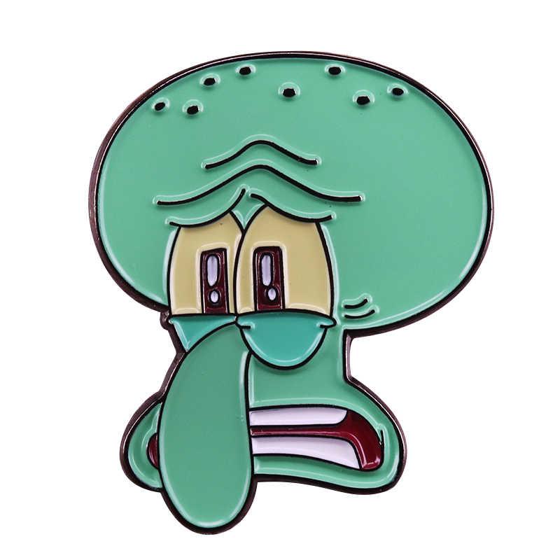 Dab Cracha Meme Pin Broche Bonito Dos Desenhos Animados Bob