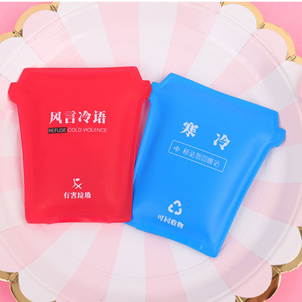 Mini Reusable Gel Hand Warmer Cute Funny Printed Heating Pack For Winter Portable FK88