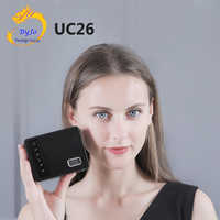 UNIC UC26 LED Portable Pocket Projector Support AV TF Card USB HDMI 5V-2A Power in Piano lacquer 1080P