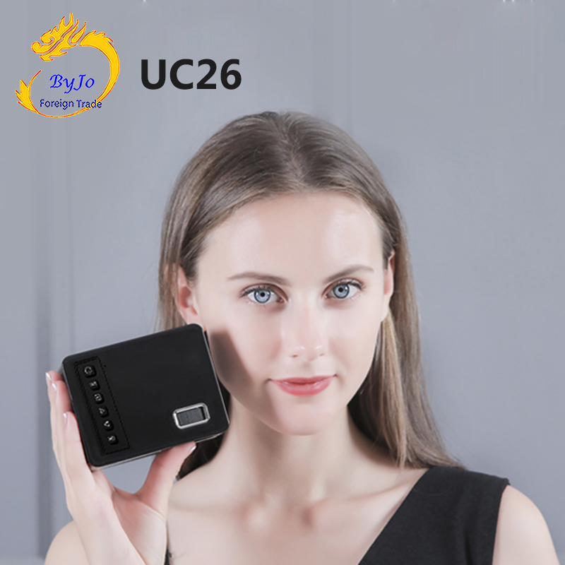UNIC UC26 LED Portable projecteur de poche Support AV TF carte USB HDMI 5V-2A puissance en laque de Piano 1080P