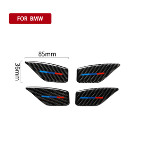 Image 2 - For BMW 5 Series G30 G38 528i 530i 2018 Carbon Fiber Decal Car Door Inside Handle Bowl Cover Car Sticker Auto Interior Styling