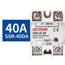 Однофазное твердотельное реле ssr 40da 25da 10da от постоянного