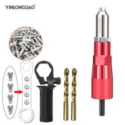 Power Boor Klinknagel Moer Gun Klinken Tool Cordless Klinken Boor Adapter Insert Moer Power Tool Accessoires Met 50Pc Moer