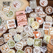 Mohamm 46PCS Boxed Aufkleber Herbst Brief Serie Kreative Dekoration Dicht Aufkleber Flakes Scrapbooking Mädchen Schule Liefert Sta
