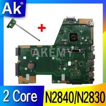 AK X551MA Motherboard Laptop UNTUK For Asus X551MA X551M X551 F551MA D550M Uji Asli Mainboard 2 Core CPU N2840/N2830 CPU(China)