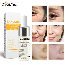 Lanbena 24k ouro ácido hialurónico rosto soro sexo peptides rejuvenescimento anti rugas soro elevador endurecimento clareamento cuidados com a pele