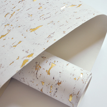 MYWIND 0.91*5.5M/Roll White off Gold Nordic style Real Cork Metallic Wallpaper F