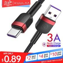 KUULAA POCO x3 용 USB 유형 C 케이블 고속 충전 유형 C 충전기 Xiaomi Mi Redmi 용 빠른 충전 참고 9 8 7 USB C USBC 케이블