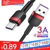 KUULAA rodzaj USB C kabel do POCO x3 szybkiego ładowania typu C szybka ładowarka dla Xiaomi Mi Redmi Note 9 8 7 USB C USBC kabel