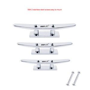 Image 5 - Edelstahl 316 Niedrigen Flache Klampe Boot Stollen Deck Seil Klampe Mooring Dock Cleat Marine Hardware Yacht Zubehör Sperren bolzen
