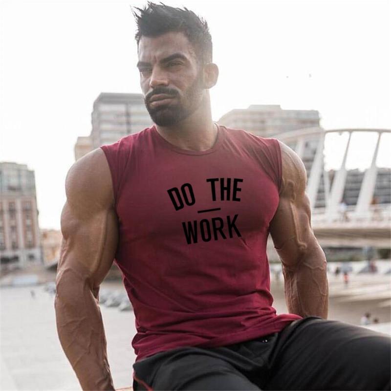 Compression Cotton Gym Tank Tops Men Sleeveless Shirt Tanktops Bodybuilding Clothing Undershirt Fitness Stringer workout Vest